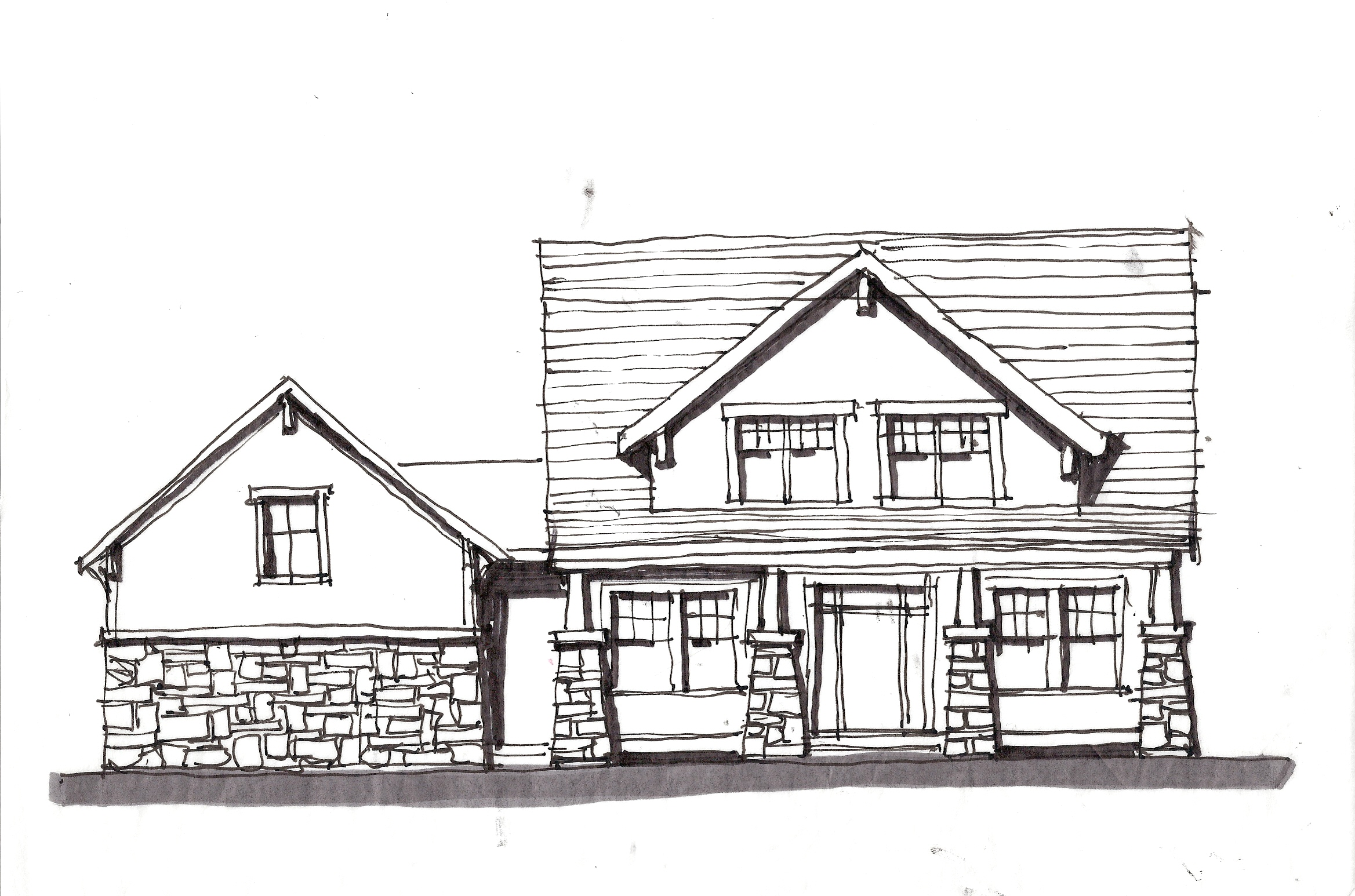 Design sketches for House sketches from photos