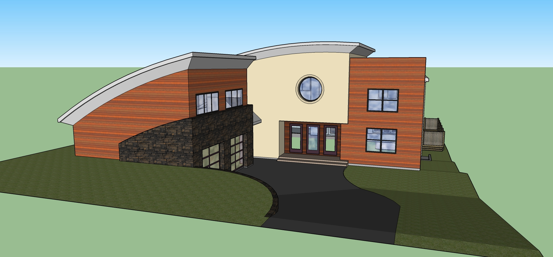 New designs in sketchup for Housedesign com