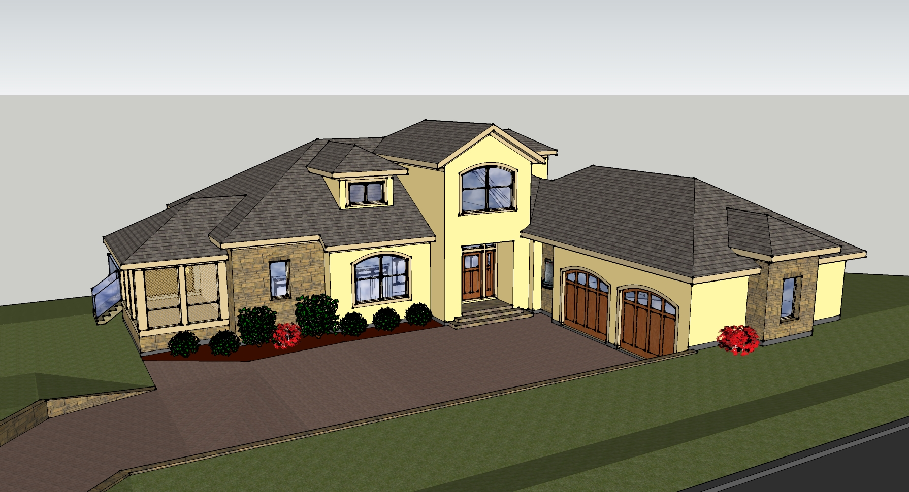 New designs in sketchup for Designer in the house
